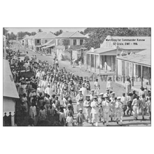 Load image into Gallery viewer, Marching for Commander Konow ~ St. Croix Postcard - Vintage Virgin Islands