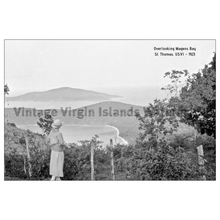 Load image into Gallery viewer, A Scenic View Over Magens Bay ~ St. Thomas Postcard - Vintage Virgin Islands
