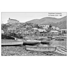 Load image into Gallery viewer, Frenchtown Community ~ St. Thomas Postcard - Vintage Virgin Islands
