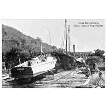 Load image into Gallery viewer, Creque Marine Railway ~ Golondrina ~ Postcard - Vintage Virgin Islands