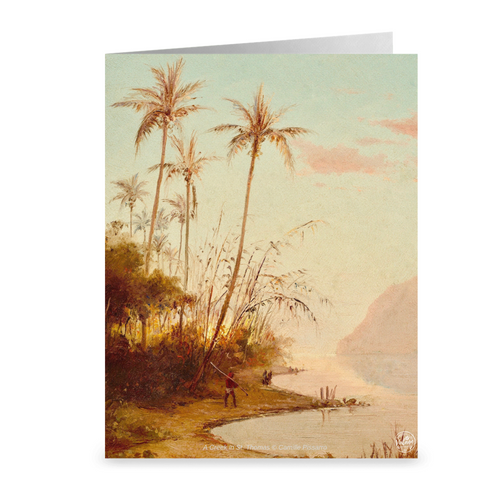 A Creek in St. Thomas by Camille Pissarro ~ Notecard - Vintage Virgin Islands