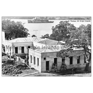 Coast Guard Building ~ St. Thomas Postcard - Vintage Virgin Islands