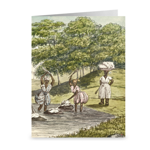 Laundry Day ~ St. Croix Notecard - Vintage Virgin Islands