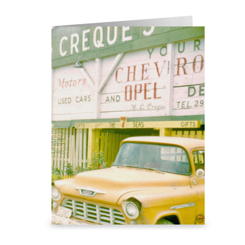 Creque's Alley Chevrolet ~ Notecard - Vintage Virgin Islands