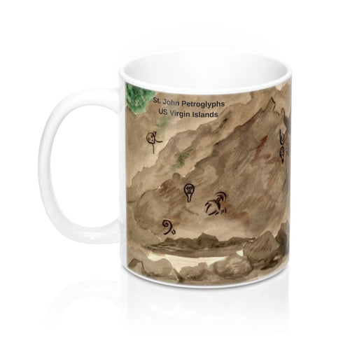 St. John Petroglyphs ~ Mug 11oz - Vintage Virgin Islands