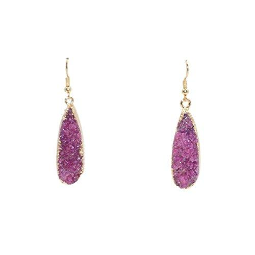 Druzy Collection - Blush Drop Earrings - Vintage Virgin Islands