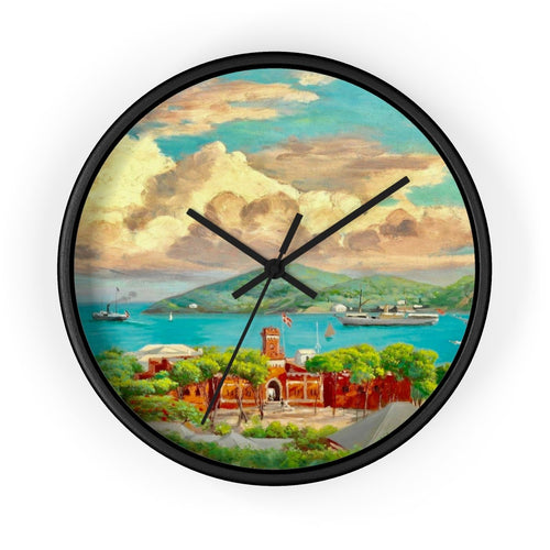 Vintage St. Thomas Wall Clock 10 In / Black Home Decor