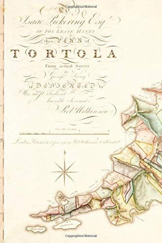 Vintage Tortola Map Journal (Virgin Islands History)