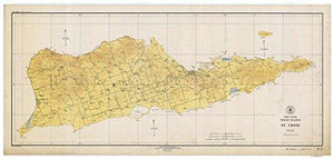 Saint Croix - 1923 Topographical Map Virgin Islands - Atlantic Harbors 3242 - Vintage Virgin Islands