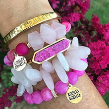 Load image into Gallery viewer, Kinsley Armelle Bangle Collection - Blush Quartz Bracelet - Vintage Virgin Islands