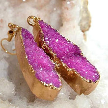 Load image into Gallery viewer, Druzy Collection - Blush Drop Earrings - Vintage Virgin Islands