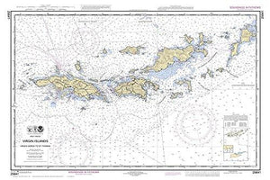 Virgin Gorda to St Thomas 2011 - Nautical Map Virgin Islands Reprint - AC Harbors Custom 905 - Vintage Virgin Islands