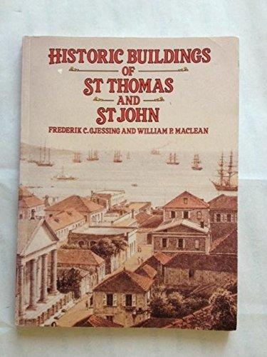 Historic Buildings of St. Thomas and St. John by F.C. Guessing - Vintage Virgin Islands
