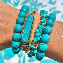 Load image into Gallery viewer, Kinsley Armelle Bangle Collection - Azure Quartz Bracelet - Vintage Virgin Islands