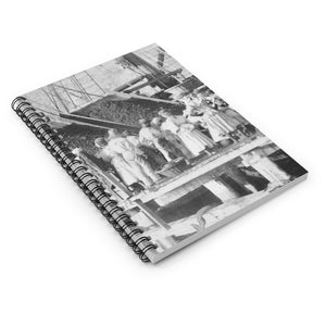 Vintage Hassel Island™  Coaling Women, Danish West Indies, Blank Notebook, Historical Gift, Coal Workers, Queen Coziah, Coaling Women, USVI - Vintage Virgin Islands