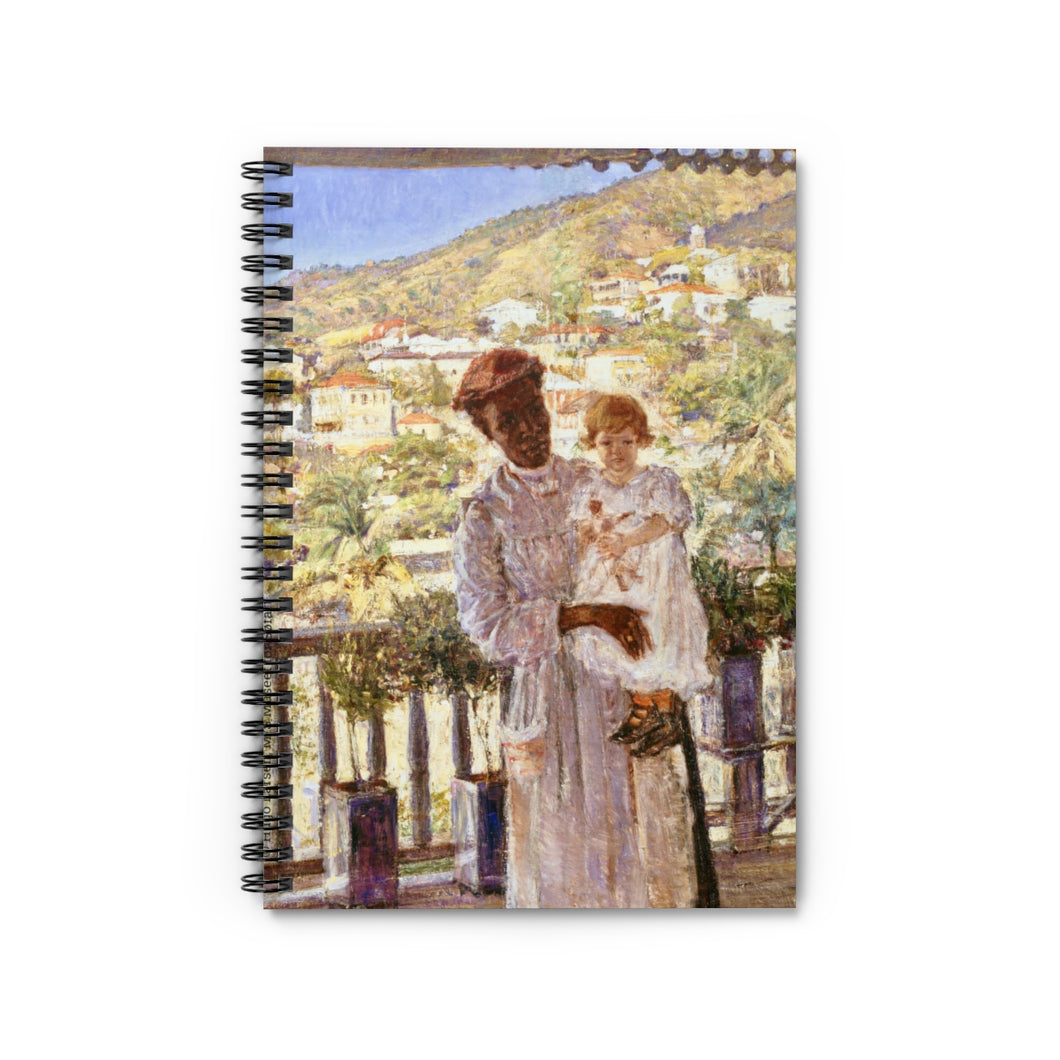 Nanny with Baby Historical Hugo Larsen Notebook - Vintage Virgin Islands