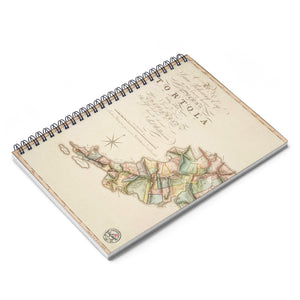 Vintage Tortola Map Notebook