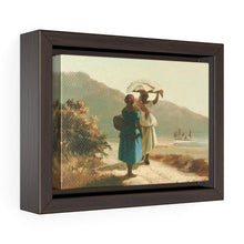 "Load image into Gallery viewer, Two St. Thomas Women Chatting by Camille Pissarro ~ 7"" x 5"" Framed Print - Vintage Virgin Islands"