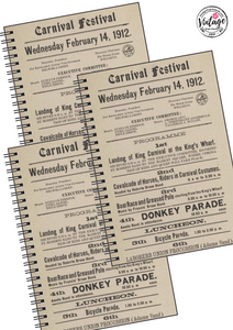 First Carnival of Fun Notebook - Vintage Virgin Islands