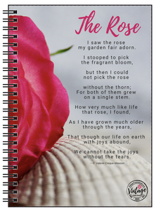 The Rose Poem Notebook - Vintage Virgin Islands