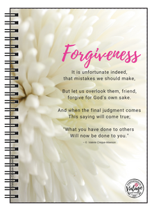 Forgiveness Poem Notebook - Vintage Virgin Islands
