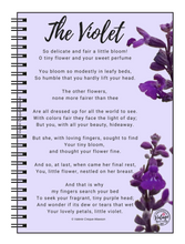 Load image into Gallery viewer, The Violet Poem Notebook - Vintage Virgin Islands