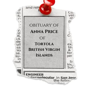 The Obituary of Anna Price of Tortola, British Virgin Islands
