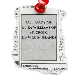 The Obituary of Eyeria Eliza Williams of St. Croix, Virgin Islands