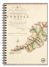 Load image into Gallery viewer, Vintage Tortola Map Notebook
