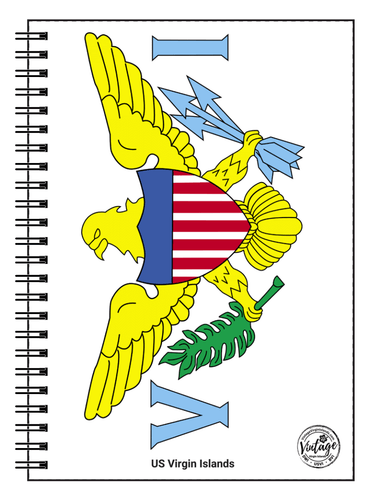 US Virgin Islands Flag Notebook - Vintage Virgin Islands