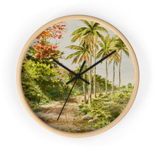 Load image into Gallery viewer, Palms and Flamboyants ~ Wall Clock - Vintage Virgin Islands