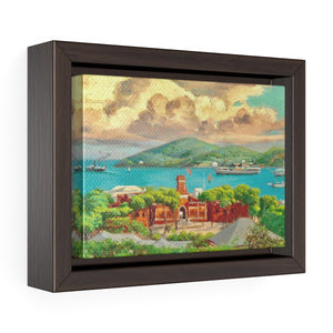 "St. Thomas Harbor View by Andreas Riis Carstensen ~ 7"" x 5"" Framed Print - Vintage Virgin Islands"