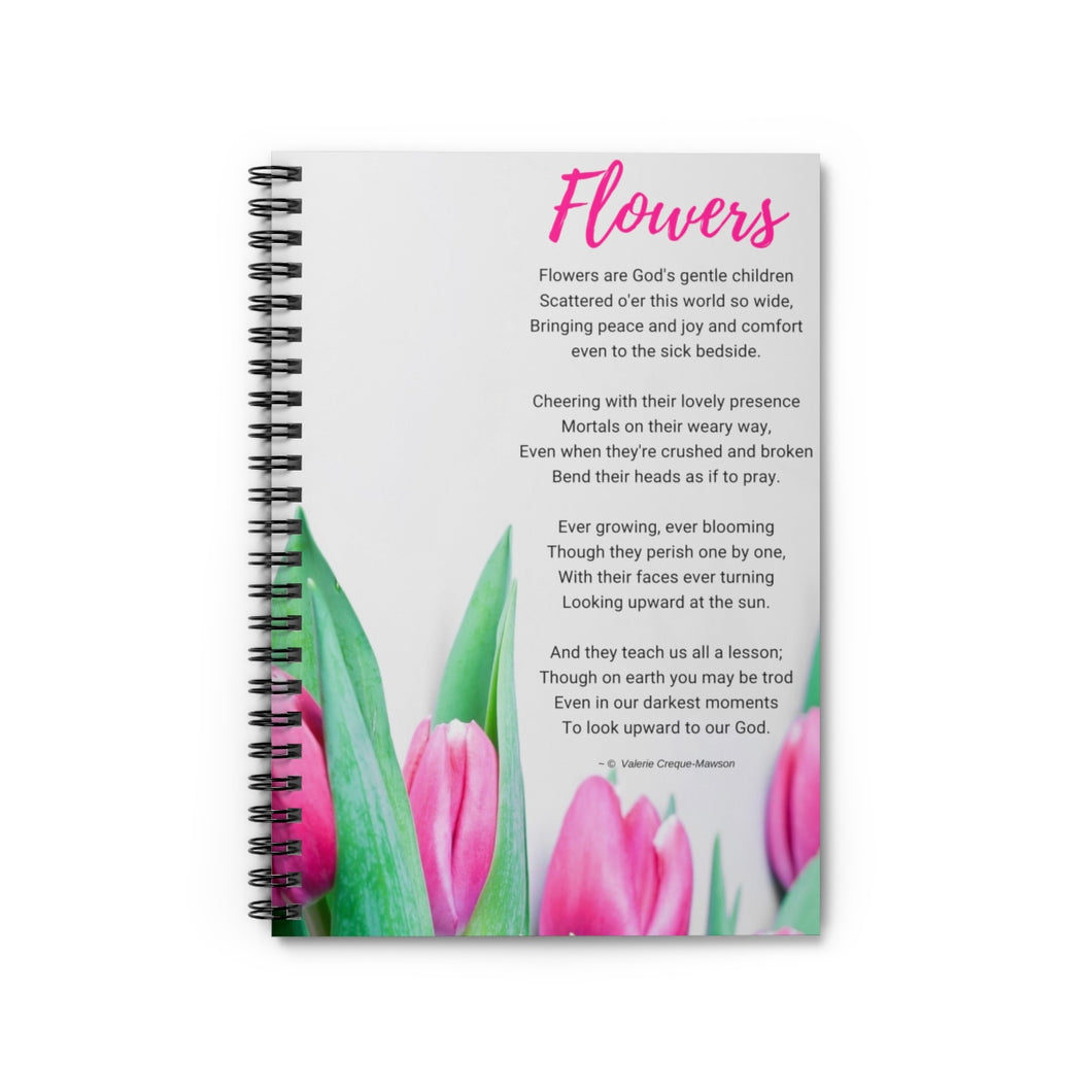 Flowers Poem Notebook - Vintage Virgin Islands