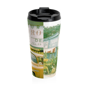Creque's Alley ~ Stainless Steel Travel Mug - Vintage Virgin Islands