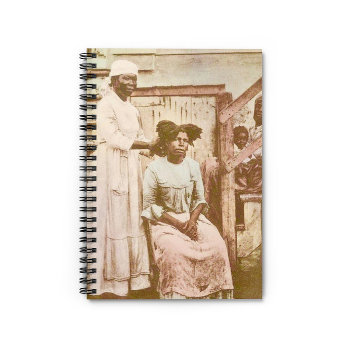 Vintage St Croix™  Native Women Of The Islands  Spiral Notebook  Journal Daybook Notebook Gift Idea