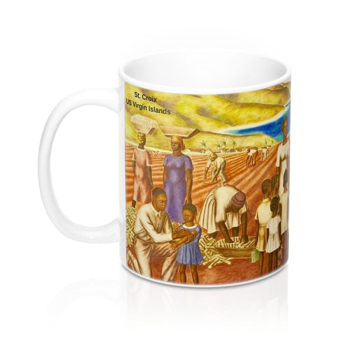 St. Croix Sugarcane Field by James Michael Newell ~ Mug - Vintage Virgin Islands