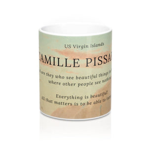 "Camille Pissarro ~ ""A Creek in St. Thomas"" ~ Inspirational Mug - Vintage Virgin Islands"
