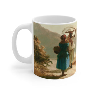 Camille Pissarro ~ Two Women Chatting by the Sea ~ Mug - Vintage Virgin Islands