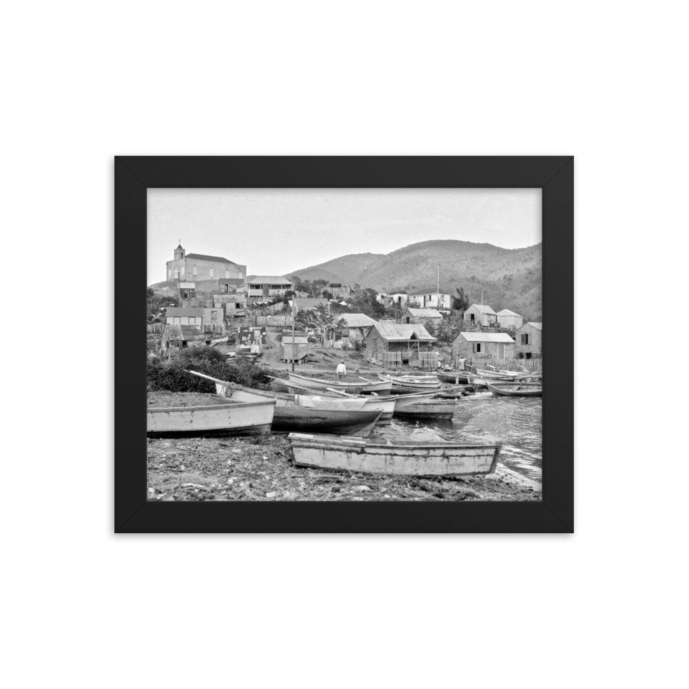 Frenchtown Community ~ 8x10 Framed Print - Vintage Virgin Islands