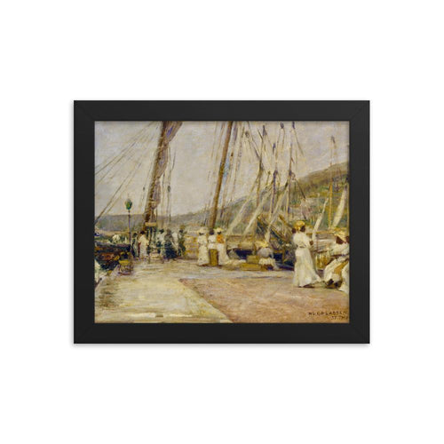 St. Thomas Wharf by Hugo Larsen ~ 8x10 Framed Print - Vintage Virgin Islands