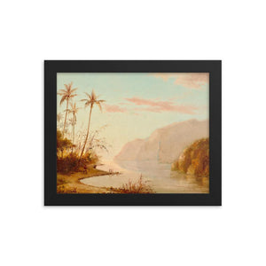 A Creek in St. Thomas by Camille Pissarro ~ 8x10 Framed Print - Vintage Virgin Islands
