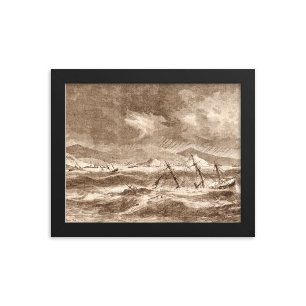 Hurricane of 1867 ~ 8x10 Framed Print - Vintage Virgin Islands