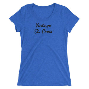 Vintage St. Croix ™ Ladies' Short-Sleeve T-Shirt - Vintage Virgin Islands