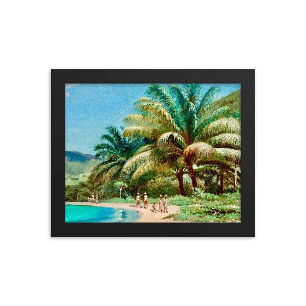 A Beautiful Beach in St. Thomas by Andreas Riis Carstensen ~ 8x10 Framed Print - Vintage Virgin Islands