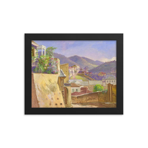 Charlotte Amalie by Frederik Visby ~ 8x10 Framed Print - Vintage Virgin Islands