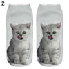 Women's Men's Fashion Animal Cute 3D Cat Printed Casual Soft Ankle Socks