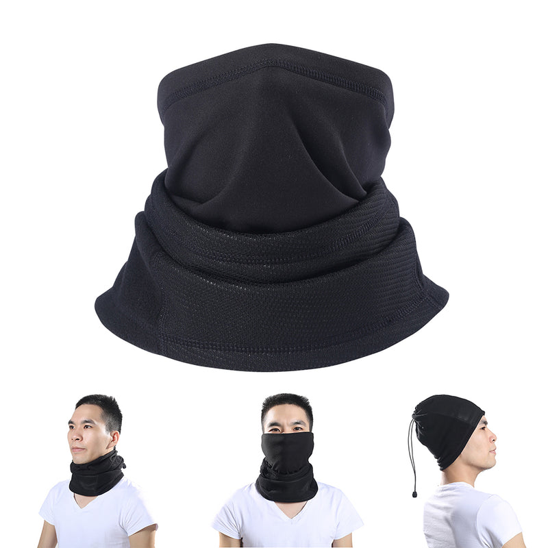 Outdoor Winter Fleece Windproof Neck Warmer Half Face Mask for Cycling Skiing
