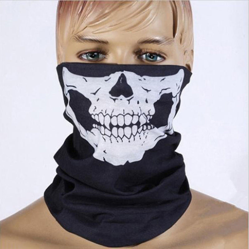 Cool Multi-Use Skull Bike Motorcycle Cycling Neck Warmer Ski Outdoor Face Mask