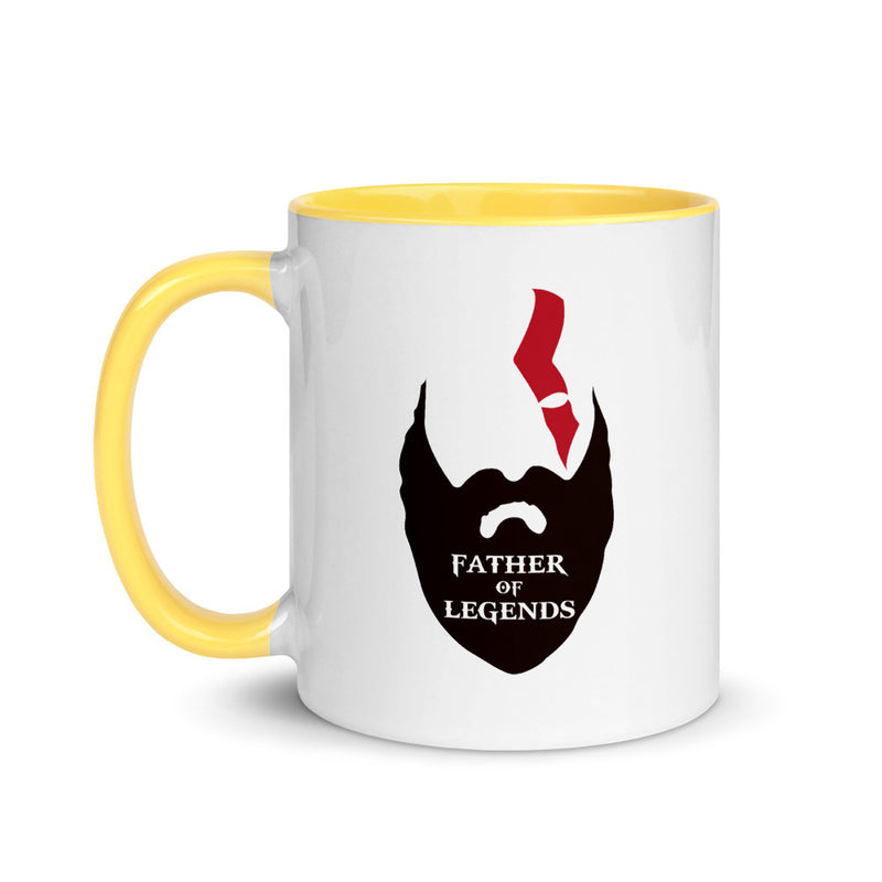Dad of Legend Mug with Color Inside
