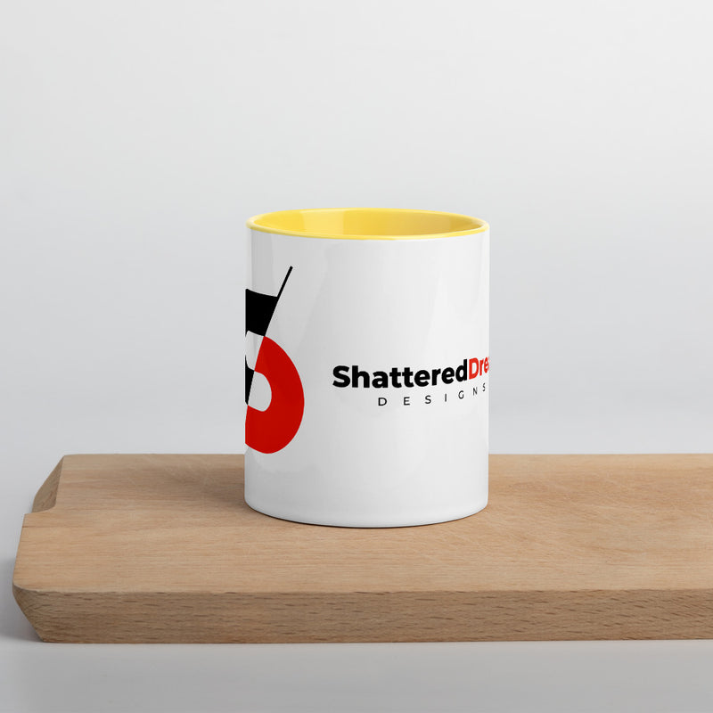 Shattered Mug with Color Inside